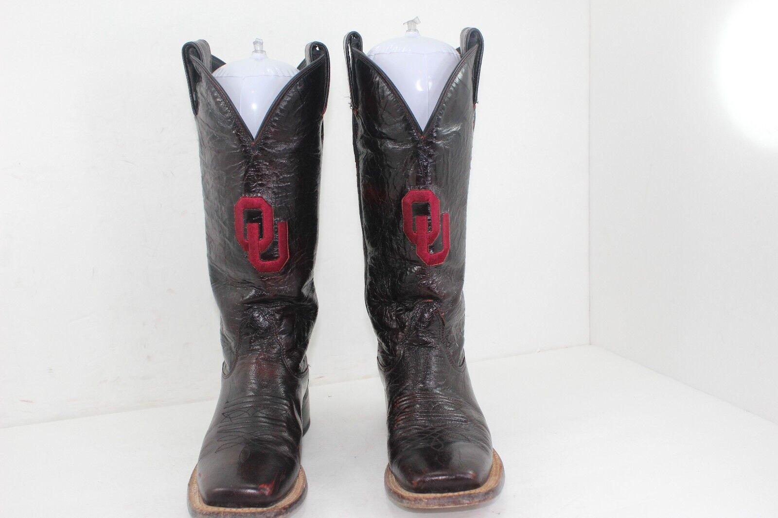 Nocona Oklahoma Universidad Talla gran 5 B Borgoña en gran Talla condición a48981