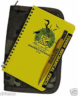 "Bird Watcher's Birder Journal All Weather  Rite in the Rain 5""x7"" Camo Kit"
