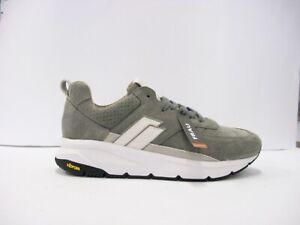 Dettagli su FRAU 10C1 sneakers uomo camoscio roccia lacci plantare memory suola vibram