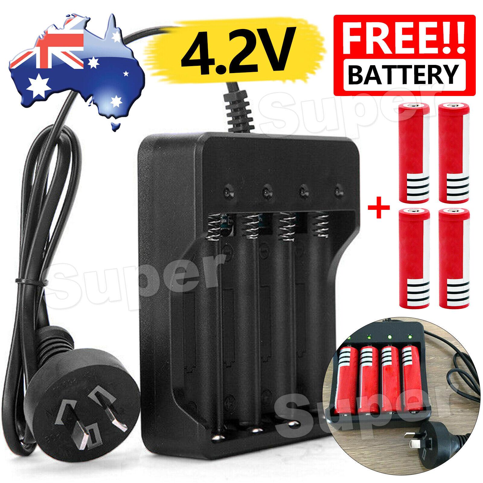 Universal 4 Slots 4.2V Rechargeable Li-ion Battery Smart Charger PLUS AU