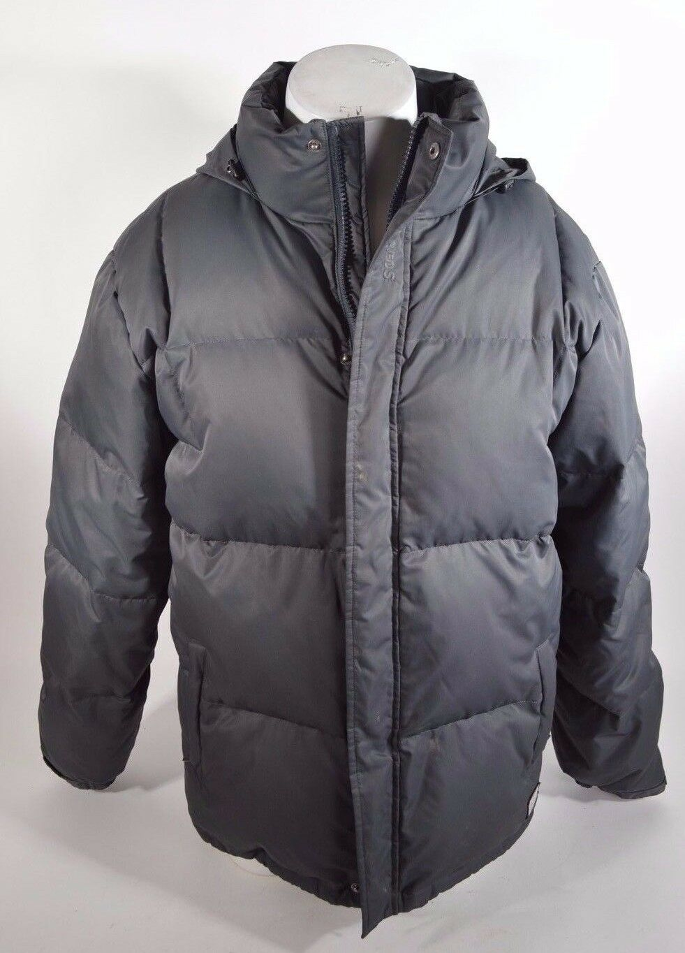 2014 MENS THE HUNDrotS DOWN JACKET WITH ROLL-UP HOOD  172 XL grau USED