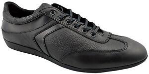 195-REACTOR-Noir-en-Cuir-Conduite-Decontracte-Baskets-Hommes-Chaussures-Nouvelle-Collection