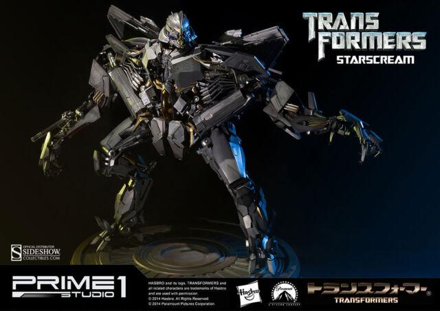 Sideshow Prime 1 Studio Transformers Starscream LED Light Up Statue MIB In Stock