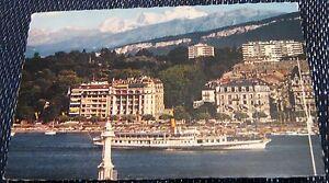 Switzerland-Geneve-Le-Mont-Blanc-et-le-Bateau-Salon-Helvetie-posted