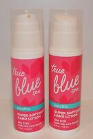 2 Bath & Body Works True Blue Spa Paraffin Super Softening Hand Lotion Pump Lot