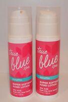 2 Bath & Body Works True Blue Spa Paraffin Super Softening Hand Lotion Pump Lot