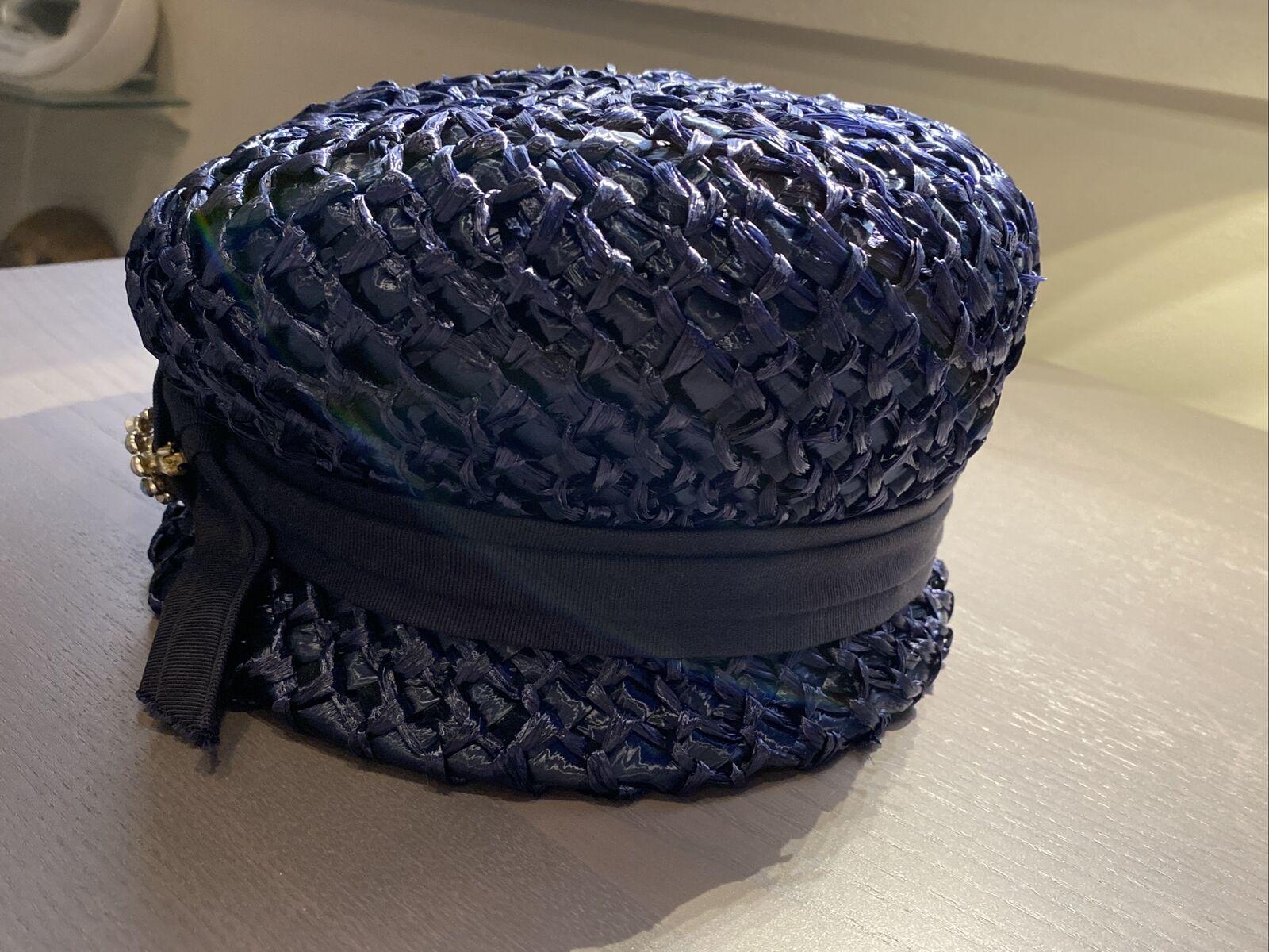 An Original Lady Byrd Creation Blue Hat c.1960's - image 8