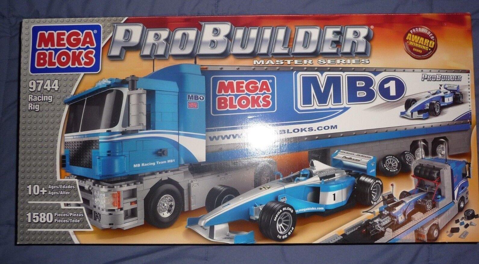 Nuevo En Caja Mega Bloks Probuilder Master Series Racing Rig - 9744 artículo de coleccionistas   rara