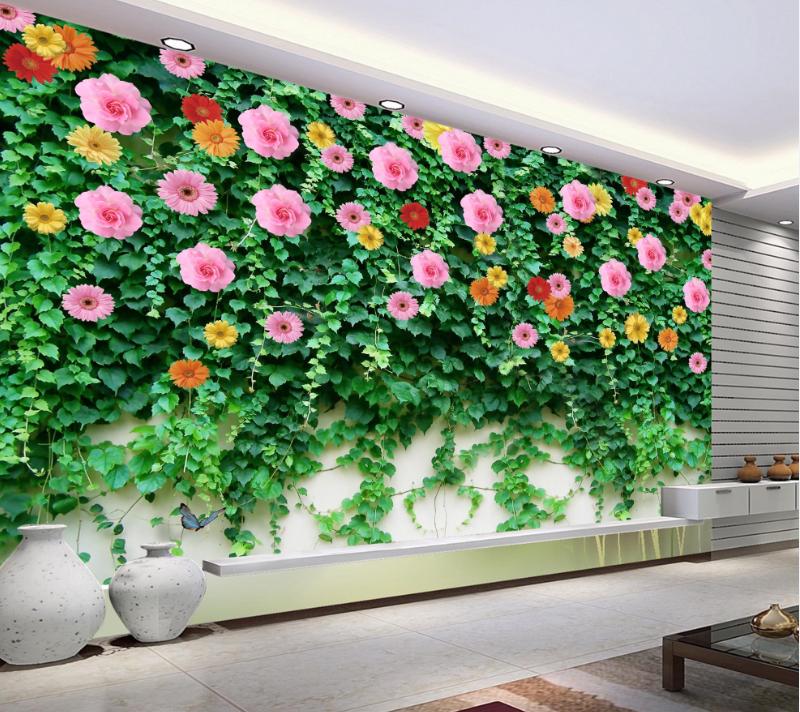 3D Vines Petals 69 Wallpaper Murals Wall Print Wallpaper Mural AJ WALL AU Lemon