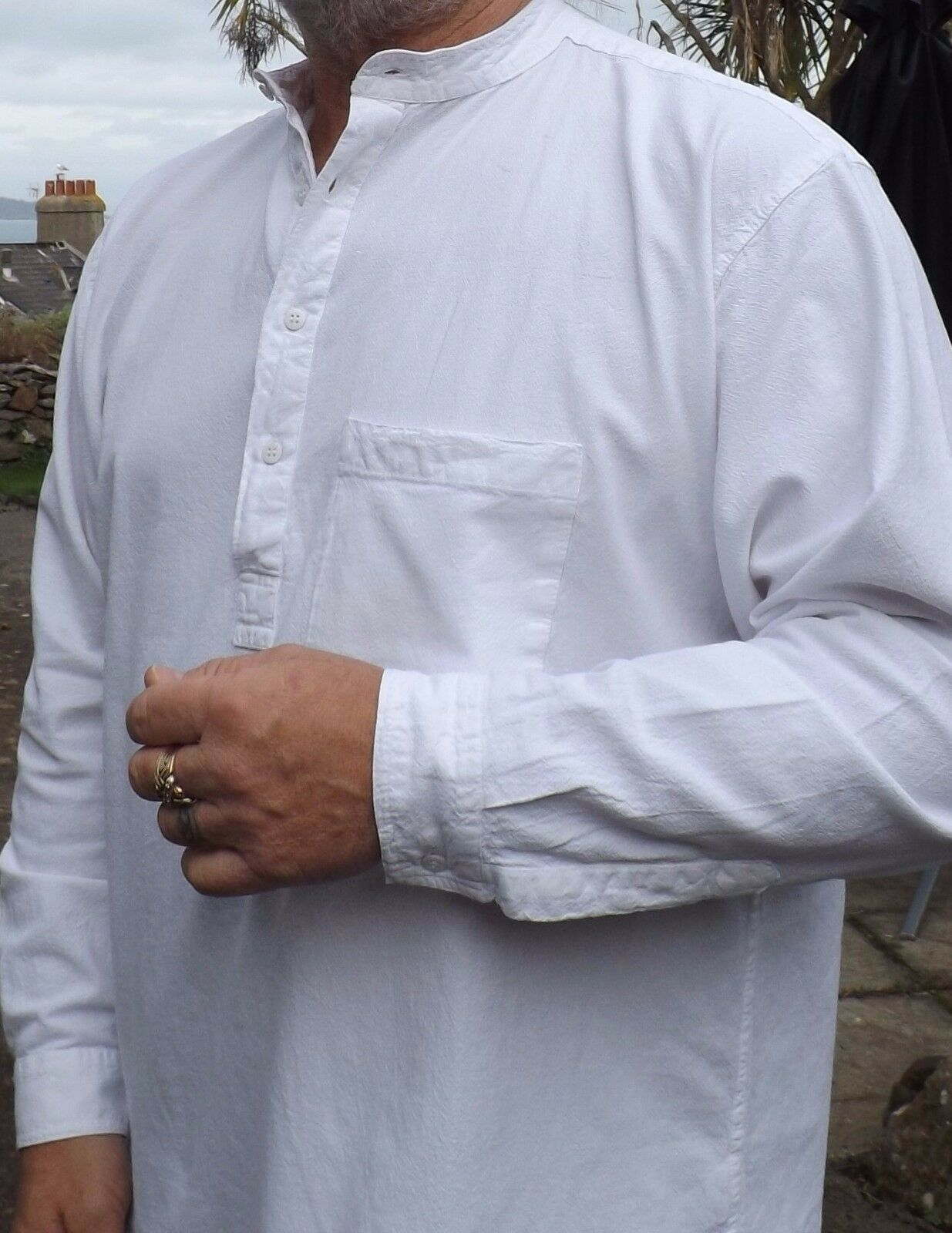 Grandad Shirt Kaboo Trading Quality Quality Quality Half Button in XXXL (fits up to 58  chest). | Großhandel  361557