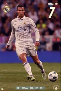 Cristiano-Ronaldo-7-Real-Madrid-FC-Badge-POSTER-61x91cm-NEW-Soccer-Football