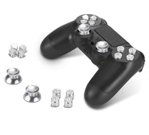 Aluminium-Tasten-Bullet-Button-Alu-Sticks-amp-DPad-Modding-Set-fuer-PS4-Controller