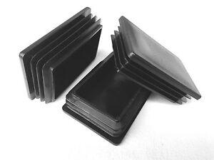 30x60 mm Stopfen Rechteckrohr Lamellenstopfen Rohrstopfen Rohrkappen Endkappen