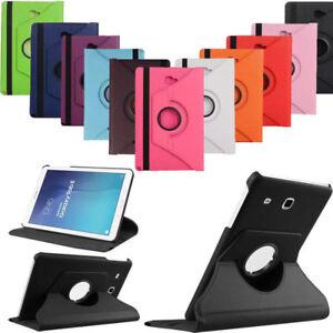 Housse-Coque-Etui-Rotatif-360-PU-Cuir-Samsung-Galaxy-Tab-A-9-7-T550-S-Pen-P550