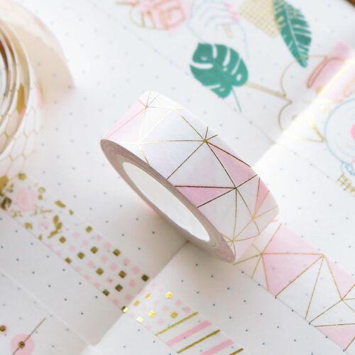 Pink Foil Paper Washi Tape Kawaii Stationery Scrapbooking Decorative Tapes