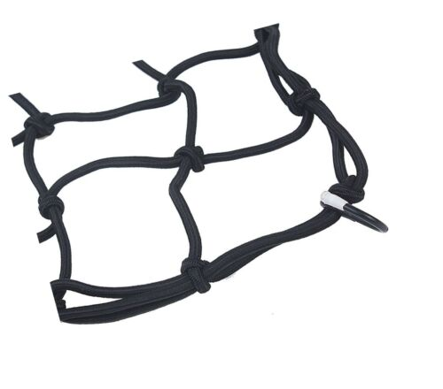 """Heavy-Duty 15/"""" Cargo Net for Motorcycles ATVs Stretches to 30/"""" Black"""