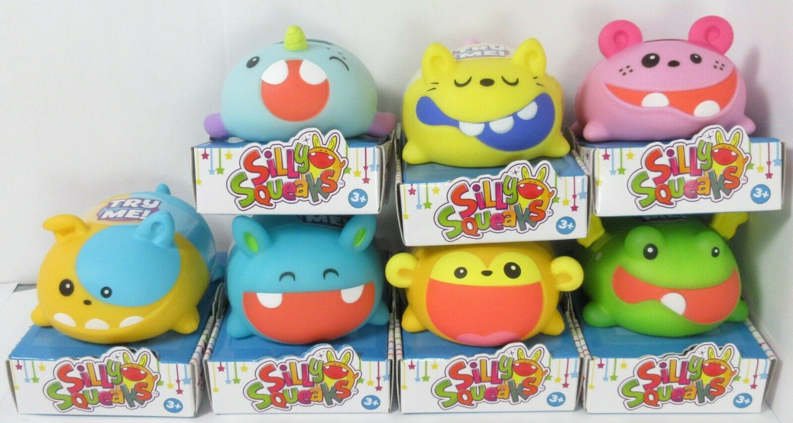 Set of 7 Silly Squeaks Series 1 Musical Pets Lot NEW (No Whisker)