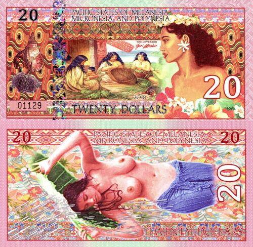 PACIFIC STATES MELANESIA MICRONESIA /& POLYNESIA 20 Dollars Fun-Fantasy Note 2018
