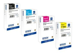 Details about 4 Original Ink Epson Workforce pro WF-5110 WF-5190 Dw WF-5620DW/T7891 -T7894