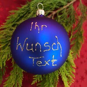 NEU Wunsch-Kugel + Christbaumkugel aus Glas mit Wunschtext + Firmenkugel Namen