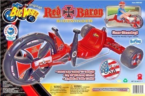 Trike RED BARON 16  Sidewinder by The The The Original Big Wheel Made in USA 030454