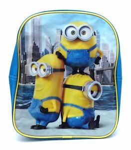 Details about Minions Trio Despicable Me Kids Backpack Rucksack Bag Great design NEW