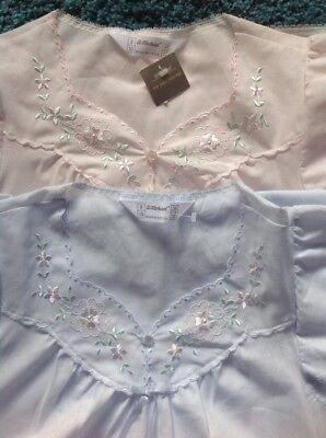 Confezione Da 2 St Michael Poly Cotone Camicia Da Notte Taglia 8 - 10 Uk Made Cool & Bella- Qualità Eccellente