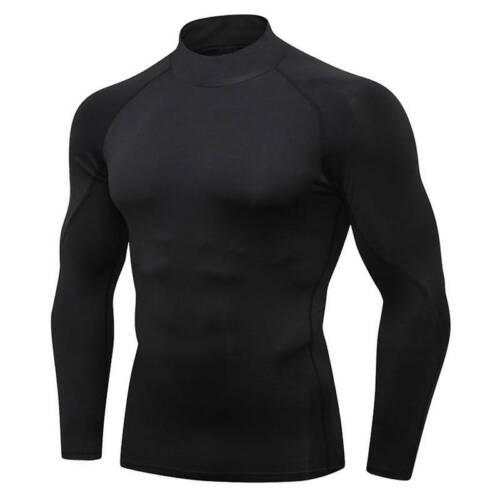 Herren T-Shirt Kompressionsshirt Funktionsshirt Langarm Fitness GYM Sport Tops