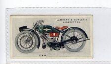 (Jd6135) LAMBERT & BUTLER,MOTOR CYCLES,P.& M,1923,#38