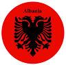 albania bandiera - ROTONDO NEGOZIO DI Souvenir Magnete del frigorifero - NUOVO -