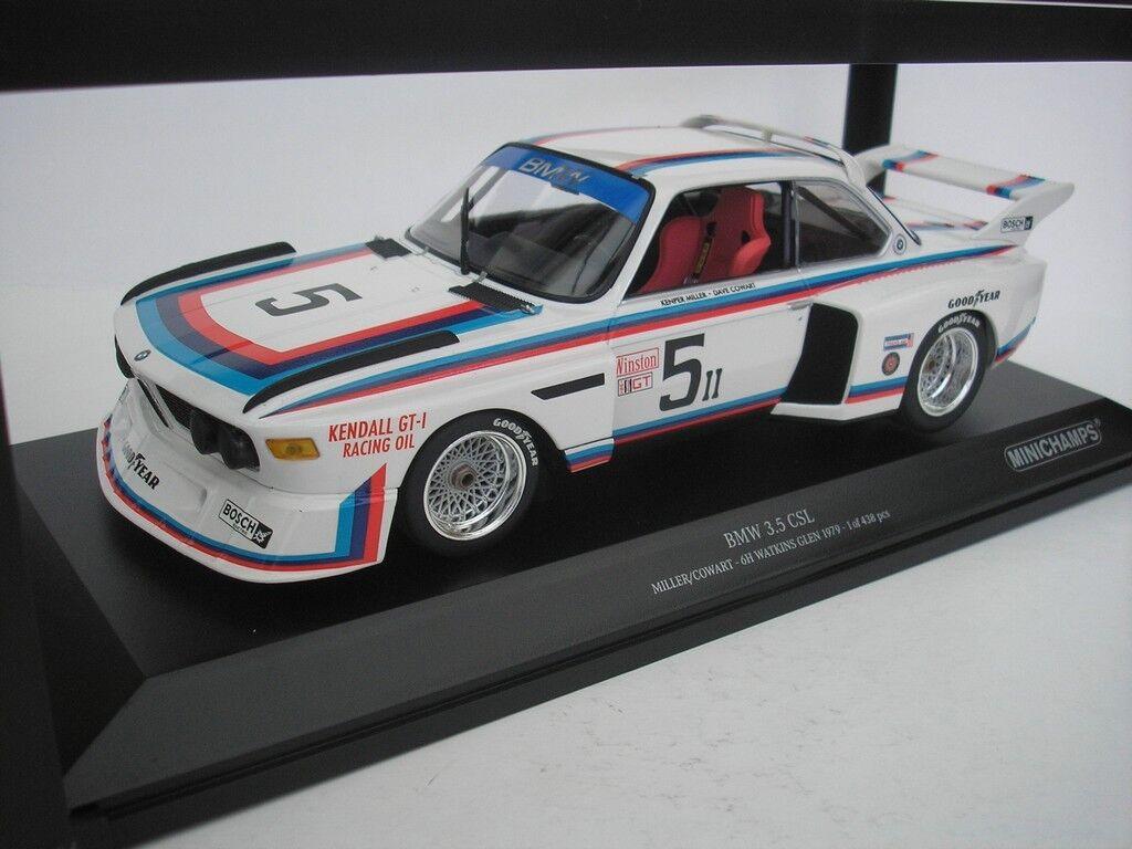 BMW 3.5 CSL  5 6H WATKINS GLEN 1979 MILLER 1 18 MINICHAMPS 155792605 NEU