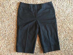 NEW-NWT-Ann-Taylor-Signature-Dress-Pants-CAPRI-Size-6-Womens-Black-Capri