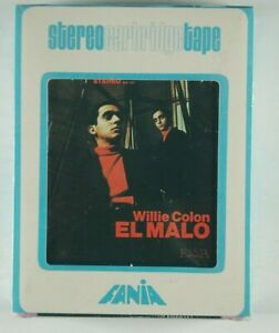 WILLIE-COLON-El-Malo-SALSA-FANIA-8-track-tape-SEALED