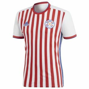 Adidas-HOMME-Paraguay-National-Equipe-Maillot-Domicile-Rouge-Football-Foot-2018