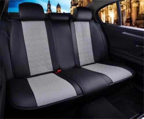 Black /& Grey Quality Eco Leather Full Set Seat Covers Land Range Rover Evoque