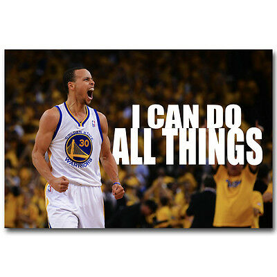 Stephen Curry Quotes Basketball Art Silk Poster Print 12x18 24x36 inch |  eBay