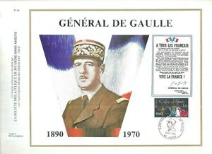 FEUILLET-PHILATELIQUE-SUR-LE-GENERAL-DE-GAULLE-cachet-de-huppy-9-11-1980