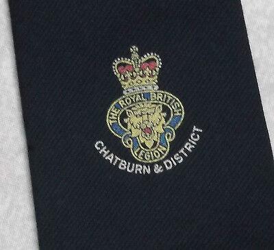 Onesto Vintage Cravatta Da Uomo Cravatta Crested Club Royal British Legion Chatburn & Distretto-mostra Il Titolo Originale Alleviare I Reumatismi