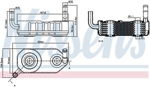 NISSENS 90708 Transmission Oil Cooler