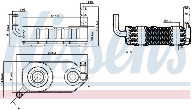 NISSENS Transmission Oil Cooler - 90708