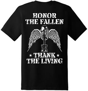 Honor-the-fallen-American-Patriotic-Veteran-Freedom-T-Shirt-New-Graphic-Tee
