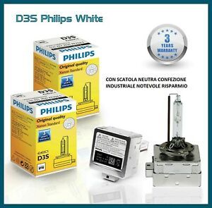 2x Philips D3S Lamps Xenon Hid 35W White Dipped Audi A4 B8 2008-2014