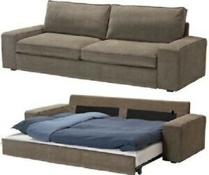 Details About Ikea Kivik Sofa Bed Slipcover Sofabed Cover For Kivik Sofa Bed Tranas Lt Brown
