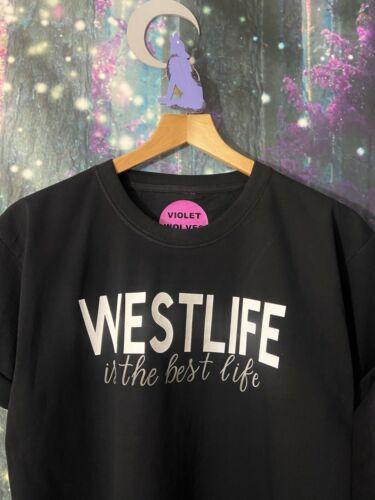 "VIOLET WOLVES /""WESTLIFE IS THE BEST LIFE/"" WOMENS KIDS WESTLIFE TOUR T-SHIRT"