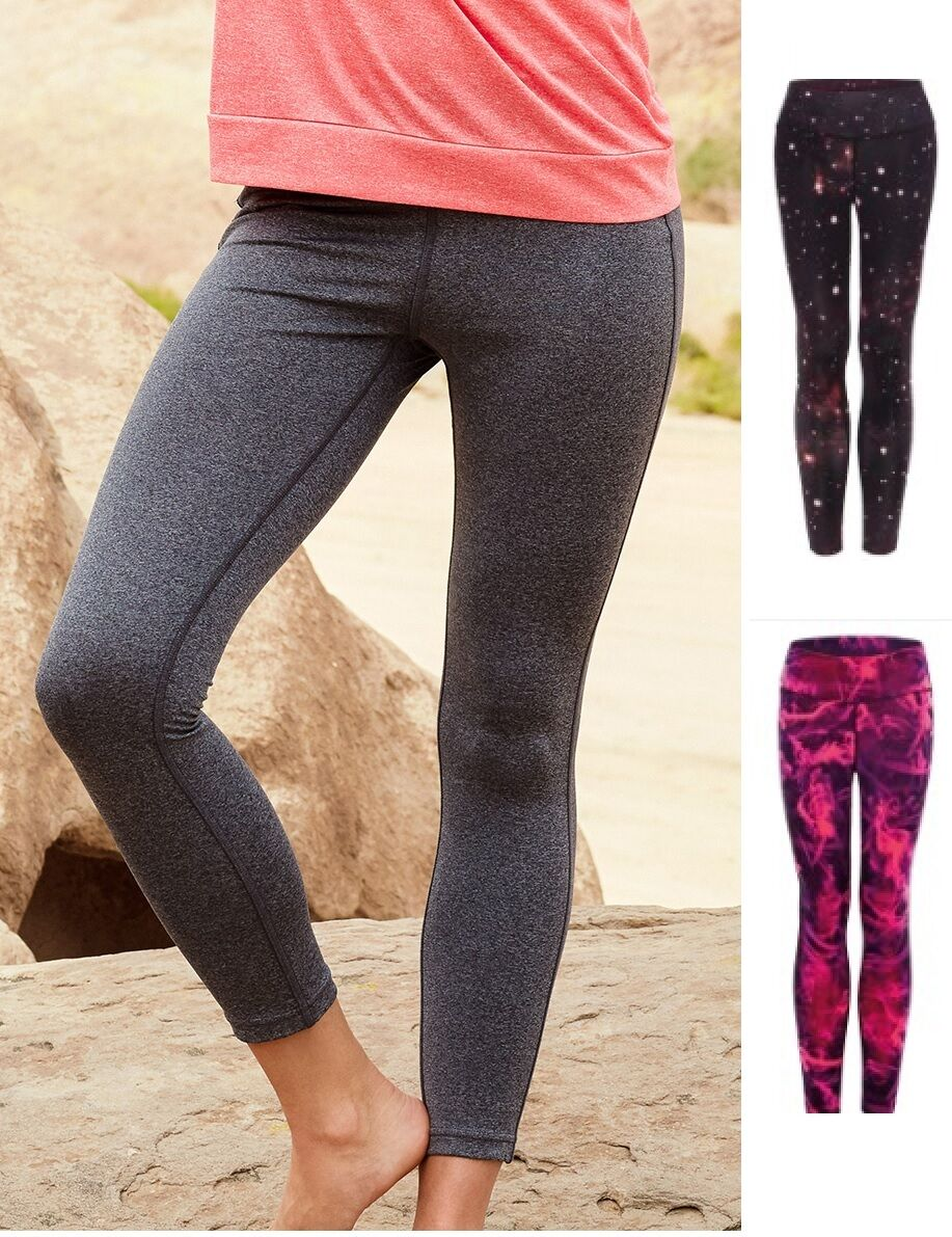 Womens Ladies Grey Active Performance Yoga Fitness Pants Leggings