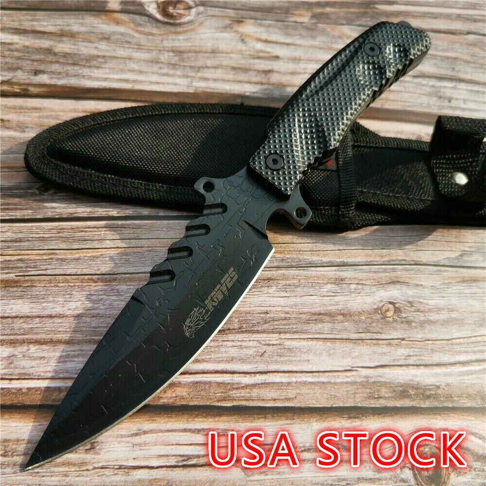 Hunting Knife Handmade Camping Small Bowie Knife Fixed Blade Wilderness Survival