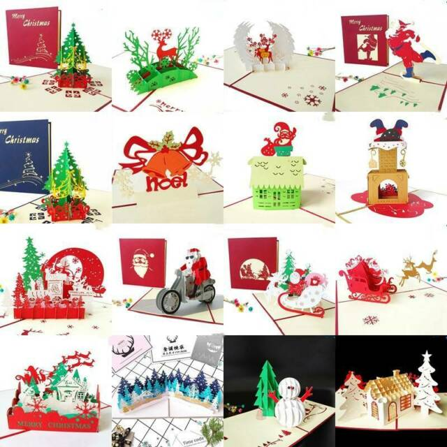 Merry Christmas Gift Card.Merry Christmas Cards 3d Pop Up Christmas Tree Laser Cut New Year Gift Cards