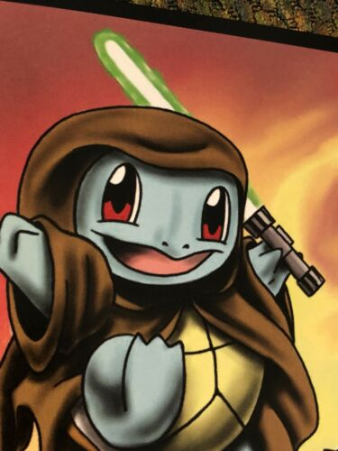 "Art Print Star Wars Pokemon Mash-up 8""x10"" Charmander Darth Maul Jedi Squirtle"