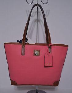 ecd70697585 Image is loading Dooney-amp-Bourke-Charleston-Shopper-Tote-Handbag-Purse-