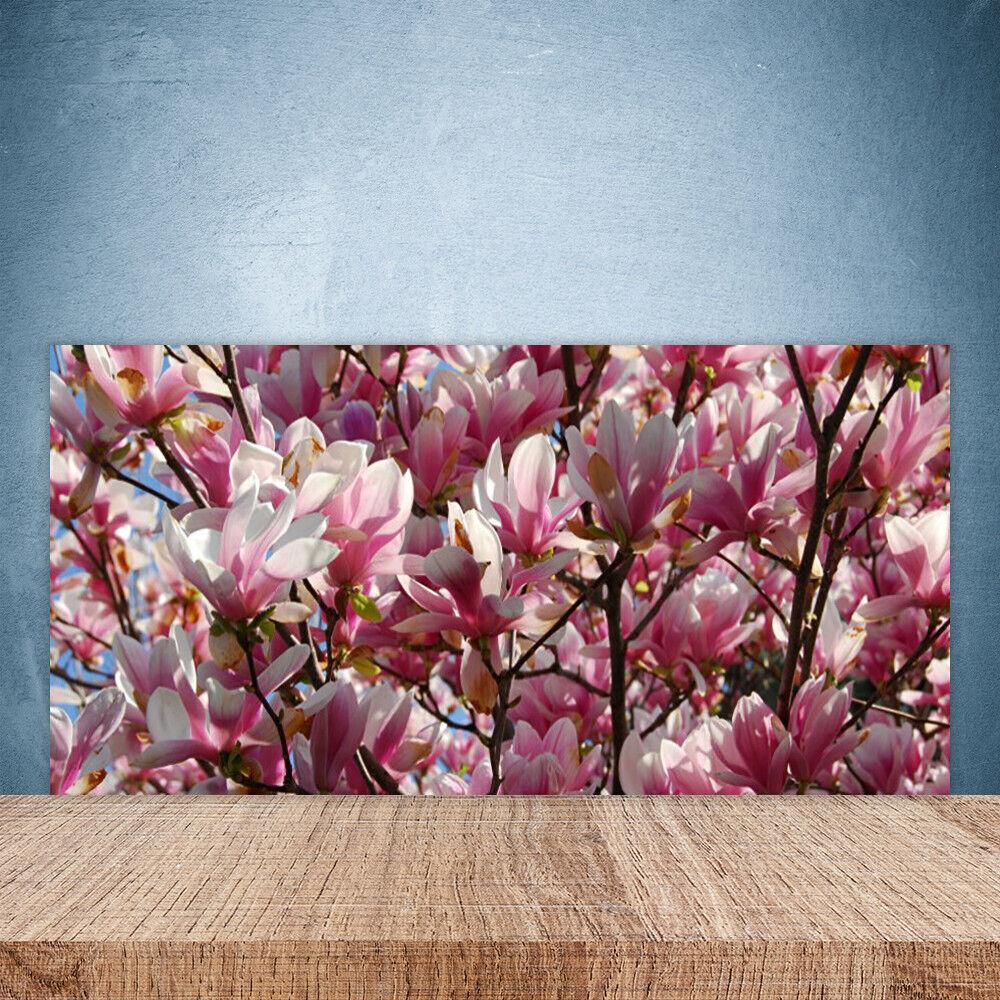 Vidrio Templado Cocina salpicaduras 100x50 Las Ramas Flores Floral